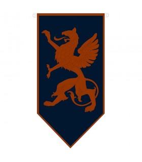 Estandarte medieval dragón rampante