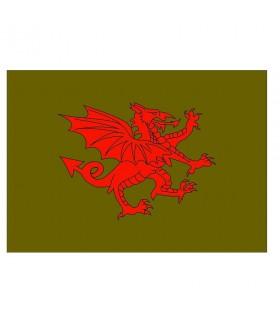 Bandera medieval Dragón rojo