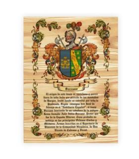 Stemma 1 Cognome su legno (30x40 cm.)