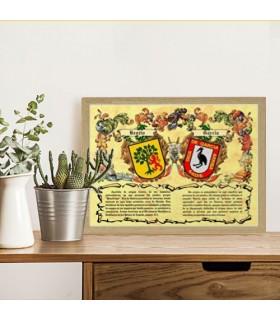 Casella di scudi 2 cognome (30x40 cm.)