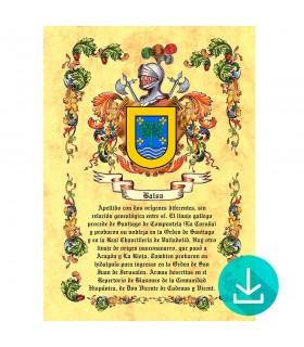 Pergamena Virtuale stemma, 1 cognome