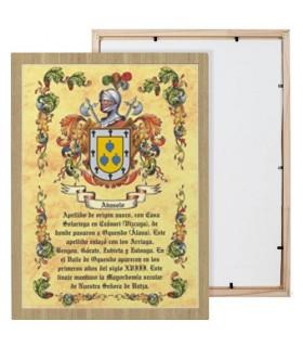 Casella di scudi 1 cognome (30x40 cm.)