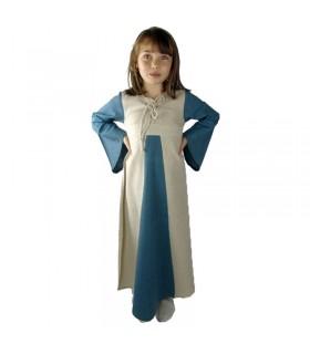 Abito medievale a due tonalità per le ragazze