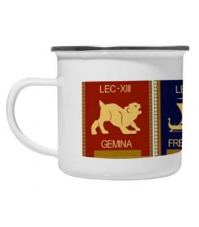 Coppa in ottone smaltato Vintage 4 Legioni Romane