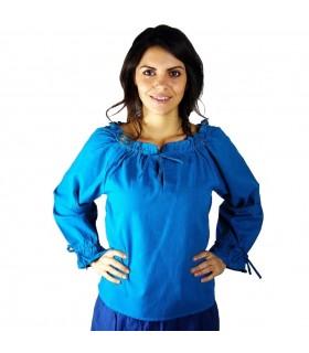 Blusa medievale, manica lunga, 2 colori