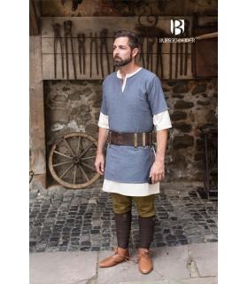 Tunica Medievale Blu-Grigio manica corta