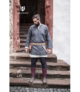 Tunica Medievale Erik grigio manica lunga