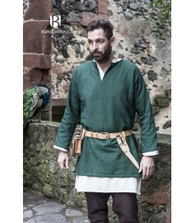 Tunica Medievale Erik verde manica lunga