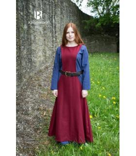 Tunica Medievale Donna Albrun in Lana Rossa