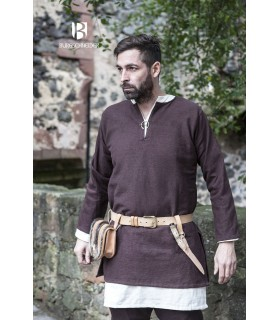 Tunica Medievale Erik marrone manica lunga