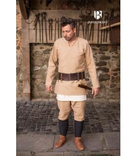 Tunica Medievale Erik crema manica lunga