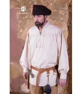 Camicia medievale legami Störtebecker, crema