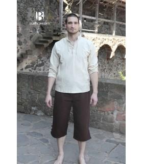 Camicia medievale legami, Tristan, crema