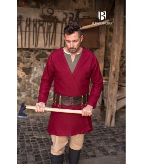 Tunica Medievale Loki rosso manica lunga