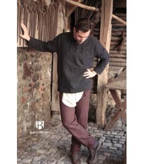 Camicia medievale legami, Tristan, nero
