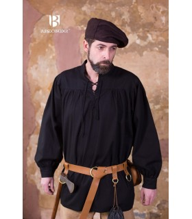 Camicia medievale legami Störtebecker, nero