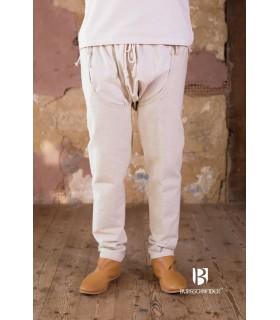 Pantaloni medievale Brandolf, crema