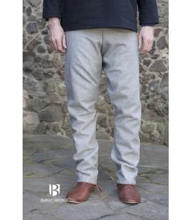 Pantaloni medievale pantaloni tipo thorsberg con piede, grigio