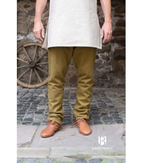 Pantaloni medievale pantaloni tipo thorsberg con piede, senape