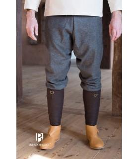 Pantaloni medievale pantaloni tipo thorsberg con piede, grigio scuro