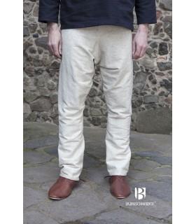 Pantaloni medievale Ragnar, crema
