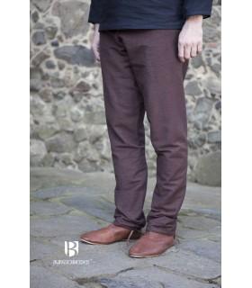 Pantaloni medievale Ragnar, marrone scuro