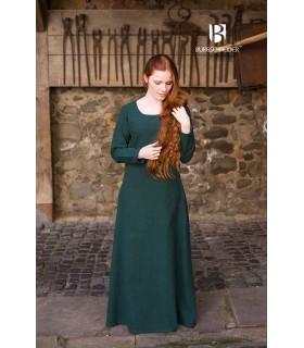 Tunica medievale Freya, verde scuro