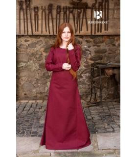 Tunica medievale Freya, bordeaux