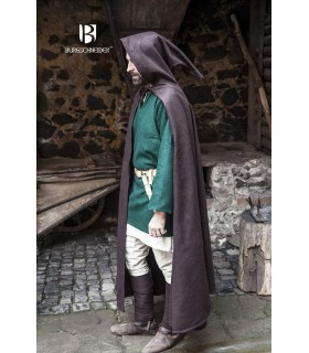 Strato medievale di lana Hibernus, marrone