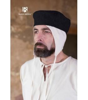 Cappello medievale Hugo, grigio