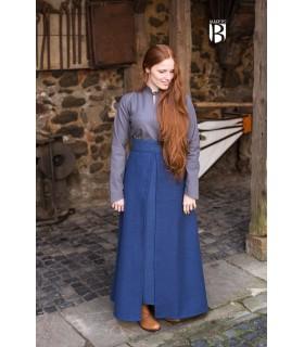 Gonna medievale Semplice, di cotone blu