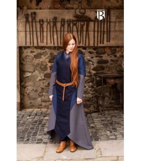 Grembiule medievale Asua, lana blu