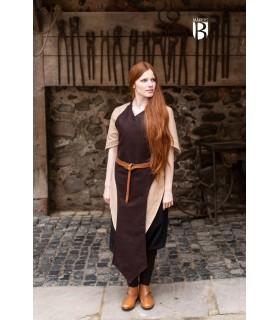 Grembiule medievale Asua, lana marrone