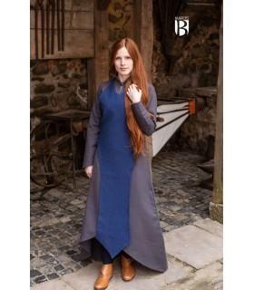 Grembiule medievale Isa, cotone blu