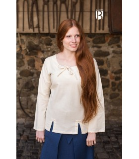 Blusa medievale Lysia, naturale