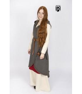 Brial medievale Myrana, grigio lana