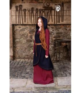 Brial medievale Myrana, lana blu