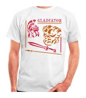 T-shirt del Gladiatore Romano, manica corta