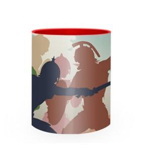 Tazza di ceramica Combattere i Gladiatori Romani