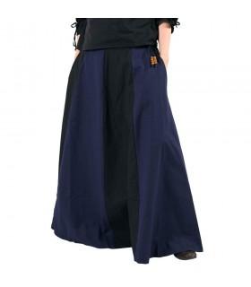 Gonna medievale lungo di colore blu-nero