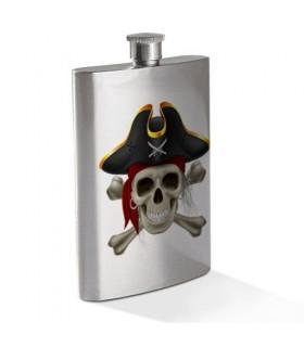Fiaschetta Teschio Pirata in Acciaio Inox