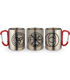 Coppa Moschettone In Acciaio Simboli Celtici