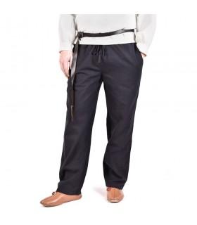 Pantaloni medievale Hagen, nero