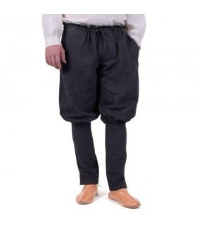 Pantaloni vichinghi Olaf, nero