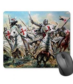 Tappetino Mouse Rettangolare Cavalieri Templari (23,5x19,5 cm)