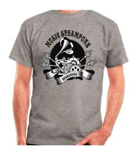 T-shirt Grigio SteamPunk, manica corta