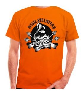 T-shirt Arancione SteamPunk, manica corta