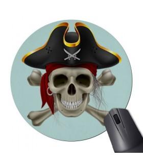 Tappetino Per Mouse Mouse Rotondo Teschio Pirata
