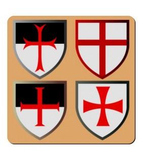 Magnete 4 Croci Templari (7,4 x 7,4 cm.)