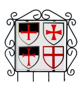 Gancio chiavi con Croci Templari
